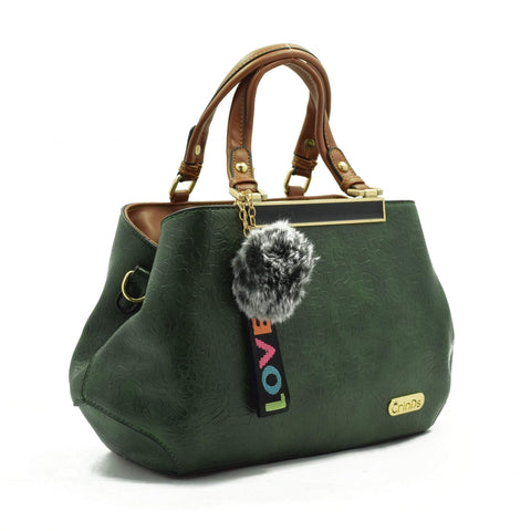 Crinds designer Classy Textured Green Handbag Men Women Ladies Girls Handbags