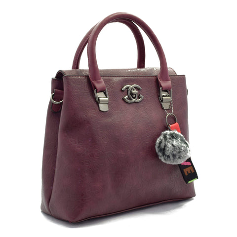 Crinds designer Close Flap Purple Handbag Men Women Ladies Girls Handbags