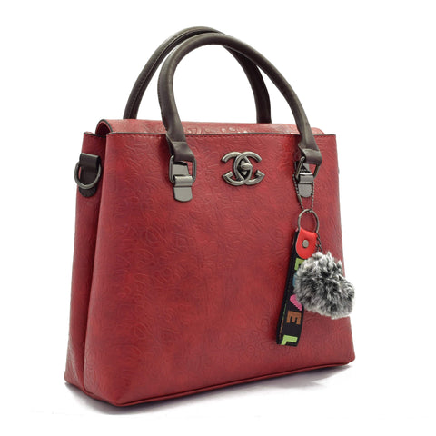 Crinds designer Close Flap Red Color Handbag Men Women Ladies Girls Handbags