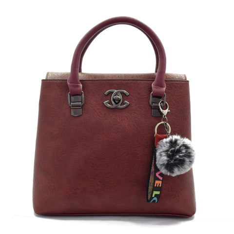 Crinds designer Close Flap Redish Brown Handbag Men Women Ladies Girls Handbags