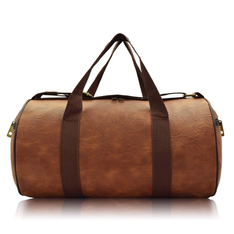 Crinds designer Compact Size Orange Brown Duffel Bag Men Women Ladies Girls duffel bag