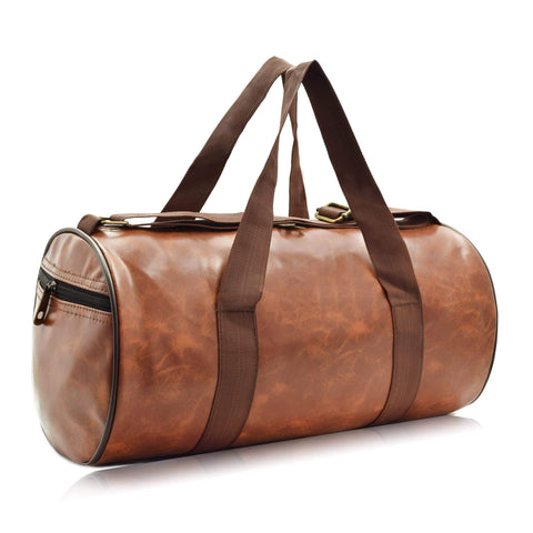 Crinds designer Compact Size Tan Brown Duffel Bag Men Women Ladies Girls duffel bag