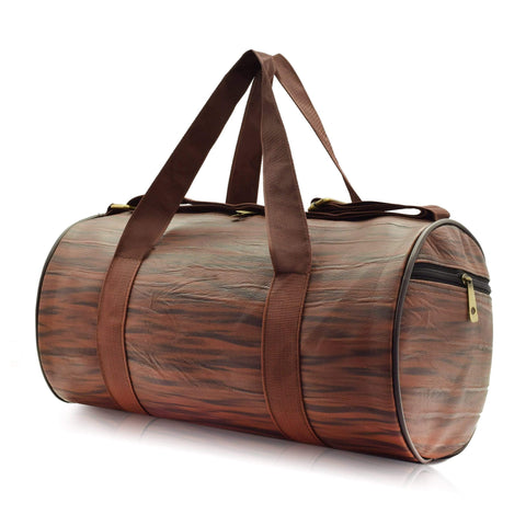 Crinds designer Compact Size Wooden Brown Duffel Bag Men Women Ladies Girls duffel bag