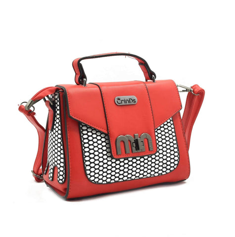 Crinds designer Crafted Design Red Handbag Men Women Ladies Girls Handbags