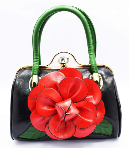 Crinds designer Crinds Bloomed Flower Duffel Bag Men Women Ladies Girls Handbags