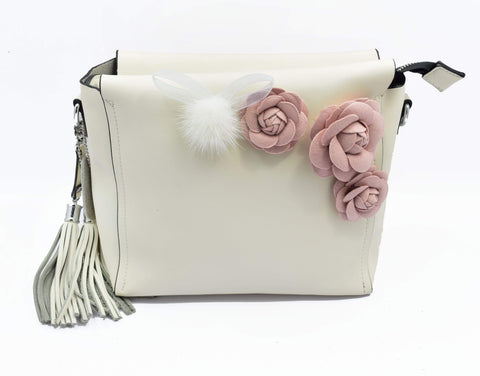Crinds designer Cute Flowery pom-pom Bag Men Women Ladies Girls Handbags