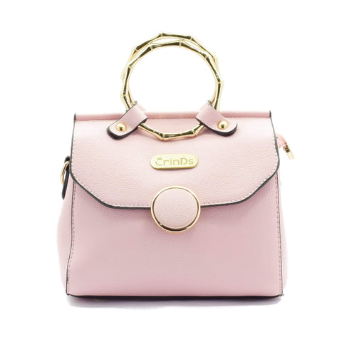 Crinds designer Cute Metal Handle Pink Sling Men Women Ladies Girls Handbags