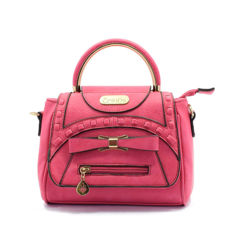 Crinds designer Cute Pink Bow Small Handbag Men Women Ladies Girls Handbags