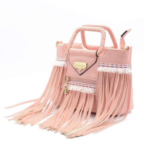 Crinds designer Cute Pink Frills Small Handbag Men Women Ladies Girls Handbags