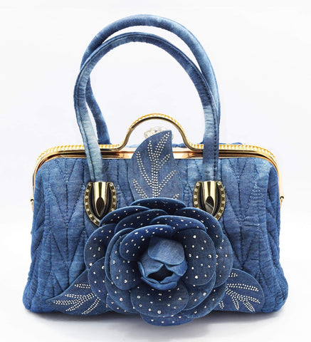 Crinds designer Denim floral duffel bag Men Women Ladies Girls Handbags