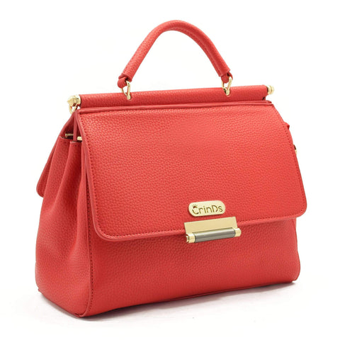 Crinds designer Double Flap Red Handbag Men Women Ladies Girls Handbags