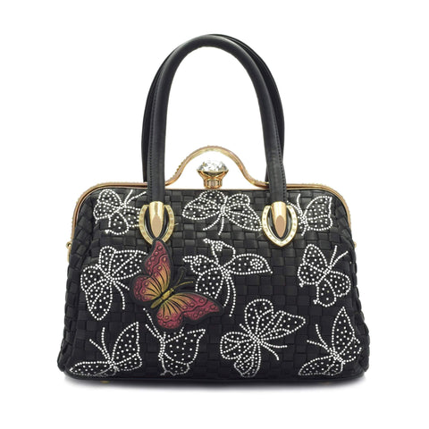 Crinds designer Elegent butterfly handbag Men Women Ladies Girls Handbags