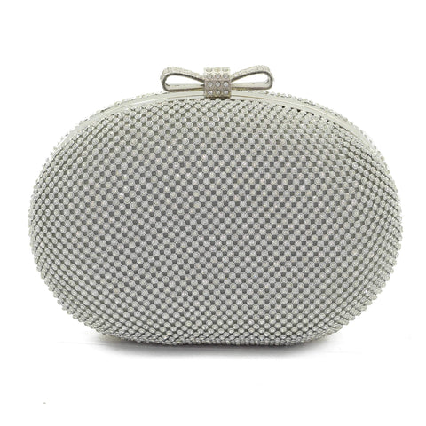 Crinds designer Elegent classic diamond Silver clutch bag Men Women Ladies Girls Clutch