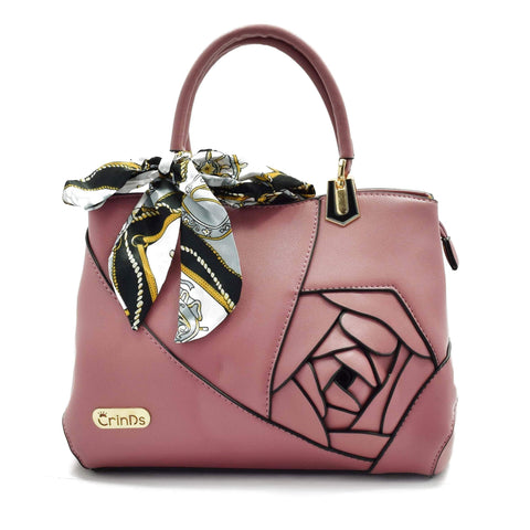 Crinds designer Embed Rose Big Pink Handbag Men Women Ladies Girls Handbags