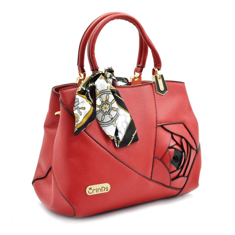 Crinds designer Embed Rose Big Red Handbag Men Women Ladies Girls Handbags