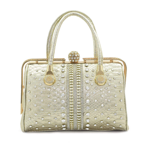 Crinds designer Embellished diamond knob Handbag Golden Men Women Ladies Girls Handbags