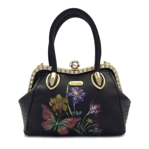 Crinds designer Embossed Butterfly pattern Handbag Men Women Ladies Girls Handbags