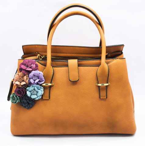 Crinds designer Embossed floral large leather handbag Men Women Ladies Girls Handbags