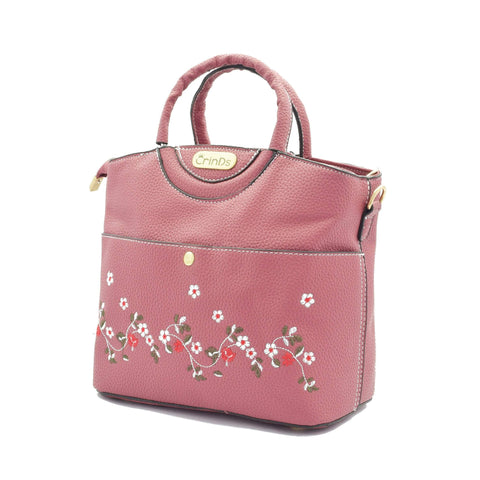 Crinds designer Embroidery Design Pink Handbag Men Women Ladies Girls Handbags