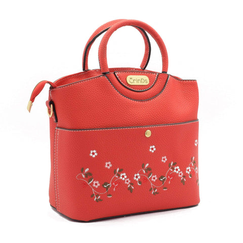 Crinds designer Embroidery Design Red Handbag Men Women Ladies Girls Handbags