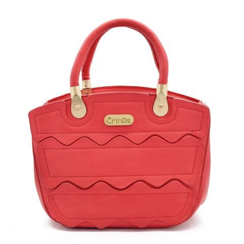 Crinds designer Fashion Wave Red Handbag Men Women Ladies Girls Handbags