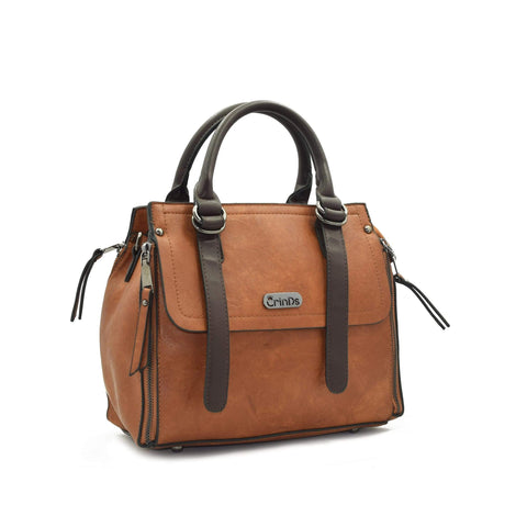 Crinds designer Flap Design Brown Handbag Men Women Ladies Girls Handbags