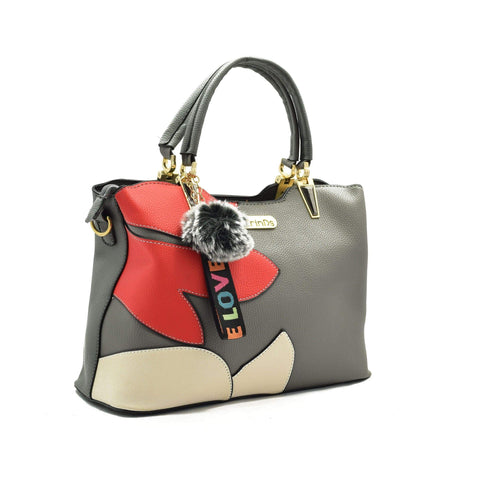 Crinds designer Floral Design Grey Handbag Men Women Ladies Girls Handbags