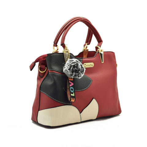 Crinds designer Floral Design Red Handbag Men Women Ladies Girls Handbags