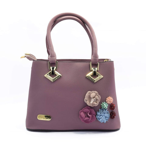 Crinds designer Floral Patch Purple Handbag Men Women Ladies Girls Handbags