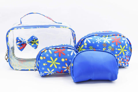 Crinds designer Floral print 4in1 multi-purpose set of pouches Men Women Ladies Girls Pouch