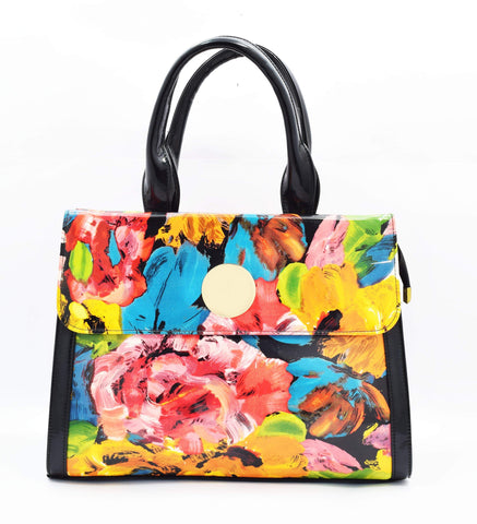 Crinds designer Floral Print Shine Fashionable Handbag Men Women Ladies Girls Handbags