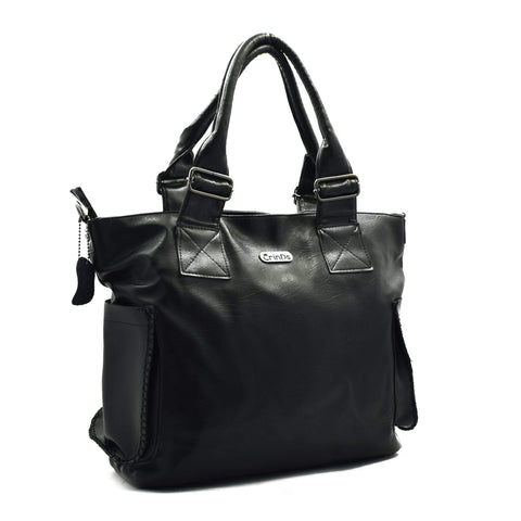 Crinds designer Kats Big Black Tote Bag Men Women Ladies Girls Handbags