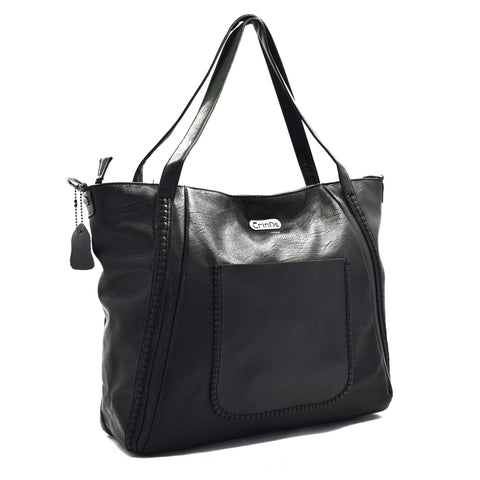 Crinds designer Kats Big Black Tote Men Women Ladies Girls Handbags