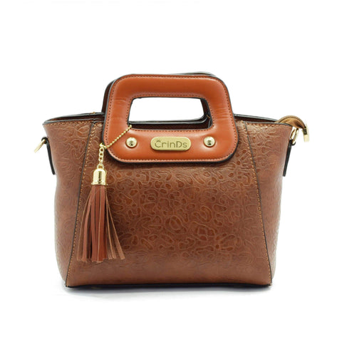 Crinds designer Leather Handle Small Brown Sling Men Women Ladies Girls Handbags