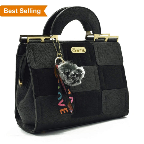 Crinds designer Luxury Square Black Handbag Men Women Ladies Girls Handbags