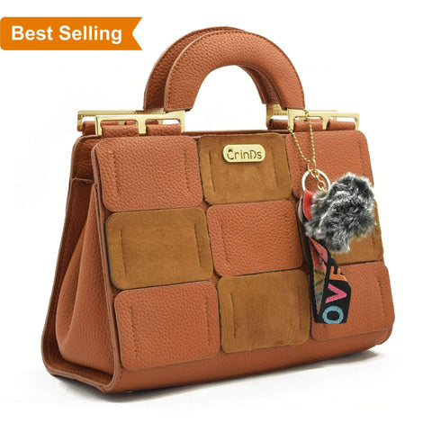 Crinds designer Luxury Square Brown Handbag Men Women Ladies Girls Handbags