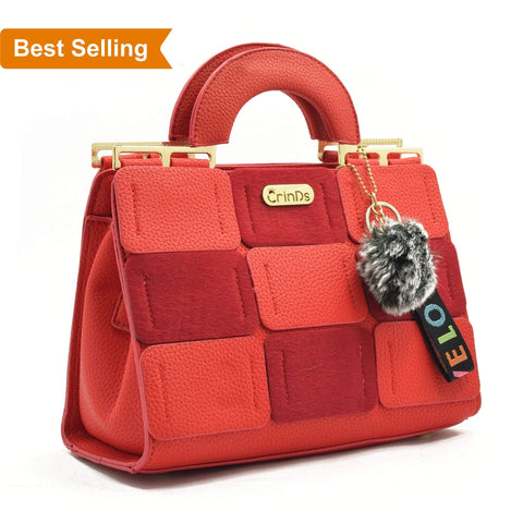 Crinds designer Luxury Square Red Handbag Men Women Ladies Girls Handbags