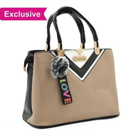 Crinds designer Luxy Formal V Beige Handbag Men Women Ladies Girls Handbags