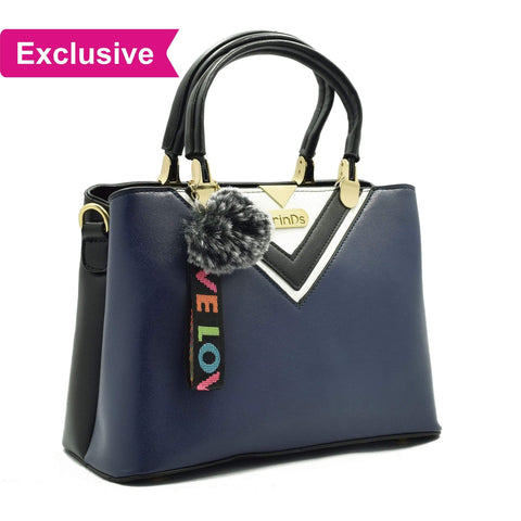 Crinds designer Luxy Formal V Blue Handbag Men Women Ladies Girls Handbags