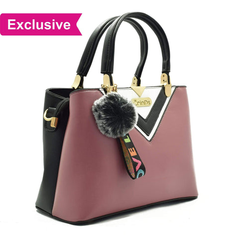 Crinds designer Luxy Formal V Purple Handbag Men Women Ladies Girls Handbags