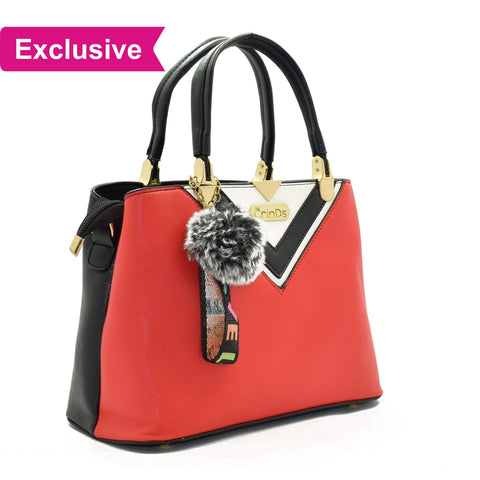 Crinds designer Luxy Formal V Red Handbag Men Women Ladies Girls Handbags