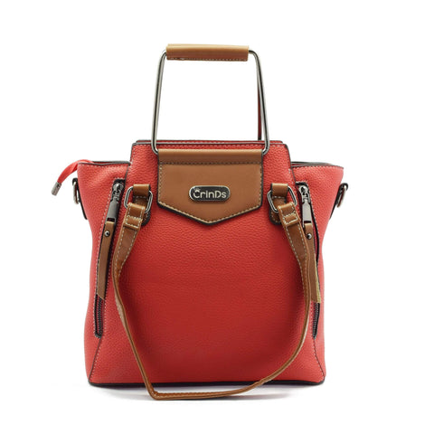 Crinds designer Metal handle Big Red Handbag Men Women Ladies Girls Handbags