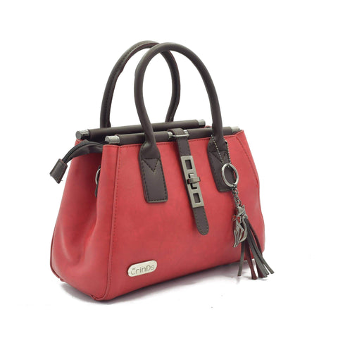 Crinds designer Metal Lock Red Handbag Men Women Ladies Girls Handbags