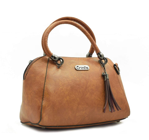 Crinds designer Metalic Brown Duffle Men Women Ladies Girls Handbags