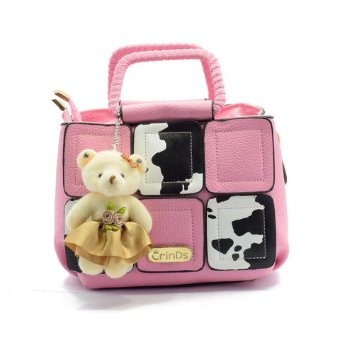 Crinds designer Moo Cute Pink Small Handbag Men Women Ladies Girls Handbags