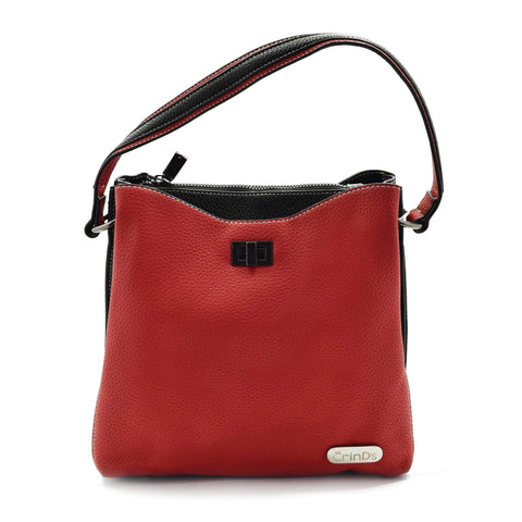 Crinds designer Multi Pockets Red Sling Handbag Men Women Ladies Girls Handbags