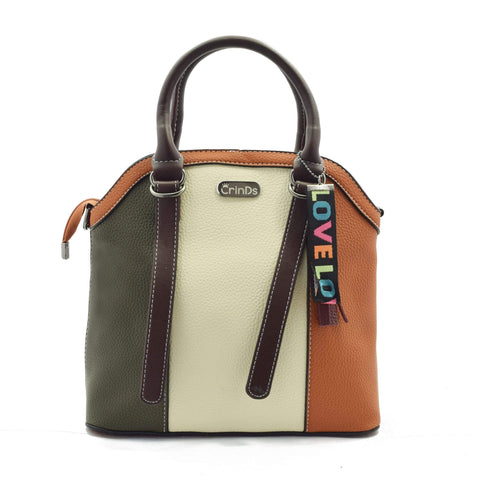 Crinds designer Multi Stripe Brown Handbag Men Women Ladies Girls Handbags