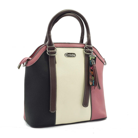 Crinds designer Multi Stripe Pink Handbag Men Women Ladies Girls Handbags
