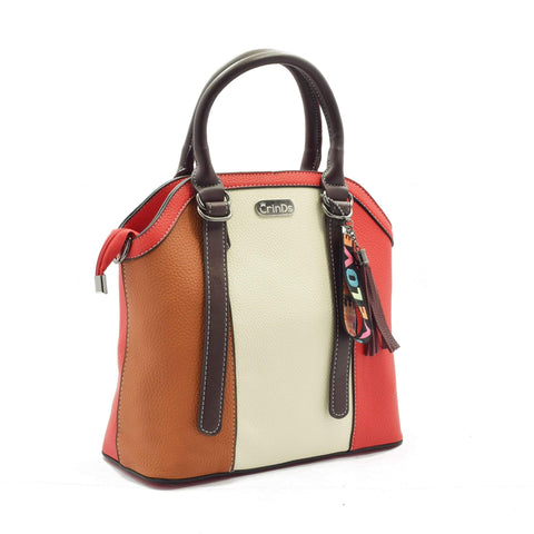 Crinds designer Multi Stripe Red Handbag Men Women Ladies Girls Handbags