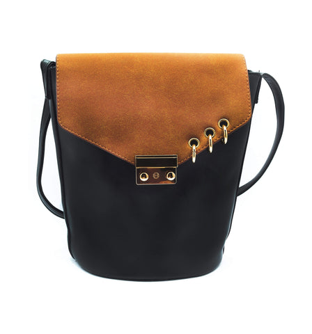 Crinds designer Pierced Brown Handbag Men Women Ladies Girls Handbags
